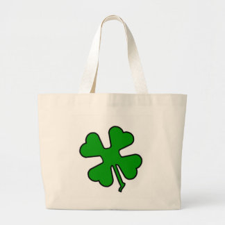 Four Leaf Clover (Lucky) Large Tote Bag