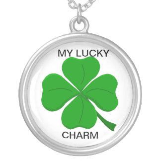 four-leaf-clover, MY LUCKY, CHARM Personalized Necklace