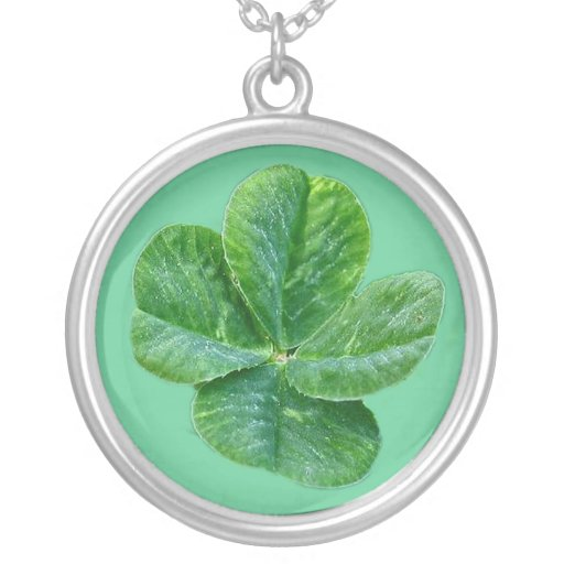 four leaf clover, necklace