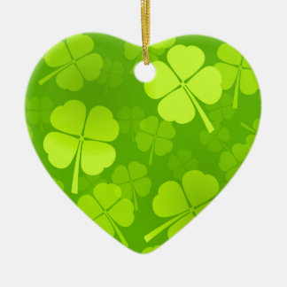 Four-Leaf Clover Pattern Ceramic Ornament