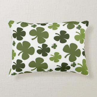 Four Leaf Clover Pattern Decorative Pillow