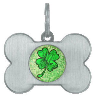 FOUR LEAF CLOVER PET TAG