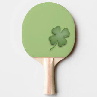 Four Leaf Clover Ping Pong Paddle