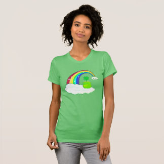 Four leaf clover, rainbow, kawaii cloud T-Shirt