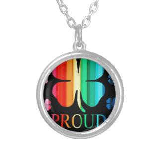 Four leaf clover Rainbow RoyGeeBiv - LGBT Pendants