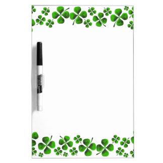 Four Leaf Clover Shamrock Background Dry Erase Board
