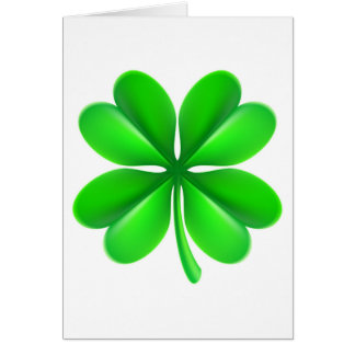 Four Leaf Clover Shamrock Card