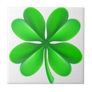 Four Leaf Clover Shamrock Tile