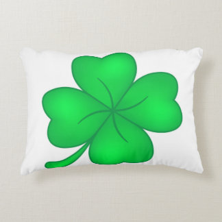 Four-leaf clover sheet accent pillow