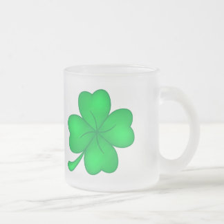 Four-leaf clover sheet frosted glass coffee mug