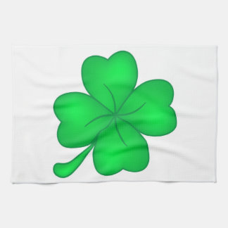 Four-leaf clover sheet kitchen towel