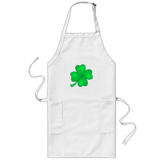 Four-leaf clover sheet long apron