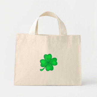 Four-leaf clover sheet mini tote bag