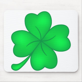 Four-leaf clover sheet mouse pad