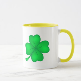 Four-leaf clover sheet mug