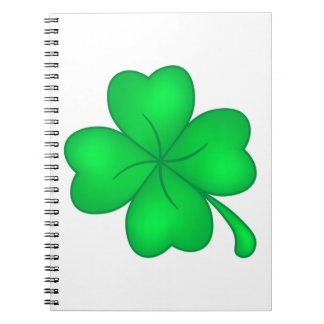 Four-leaf clover sheet notebook