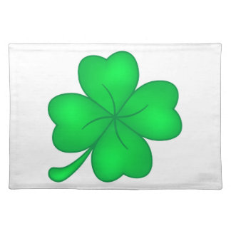 Four-leaf clover sheet placemat