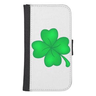 Four-leaf clover sheet samsung s4 wallet case