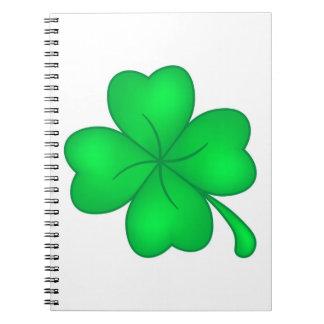 Four-leaf clover sheet spiral notebook