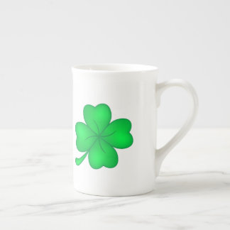 Four-leaf clover sheet tea cup