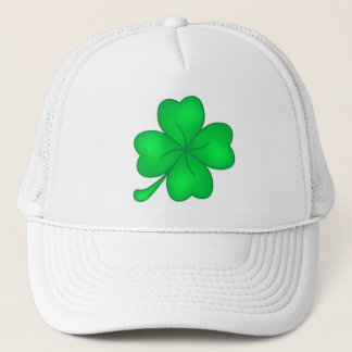 Four-leaf clover sheet trucker hat