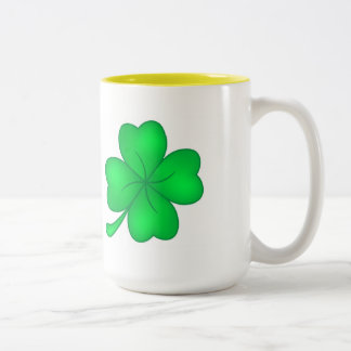 Four-leaf clover sheet Two-Tone coffee mug