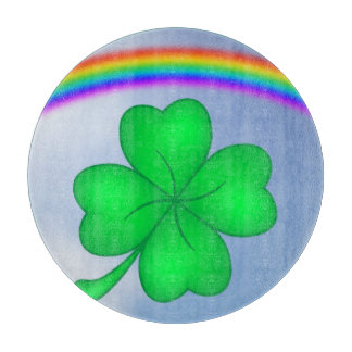 Four-leaf clover sheet with rainbow cutting board