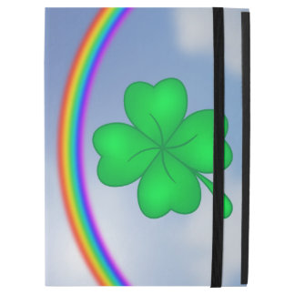 "Four-leaf clover sheet with rainbow iPad pro 12.9"" case"