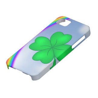 Four-leaf clover sheet with rainbow iPhone 5 case