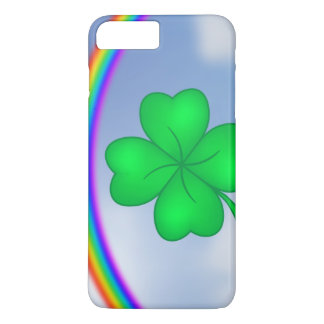 Four-leaf clover sheet with rainbow iPhone 8 plus/7 plus case