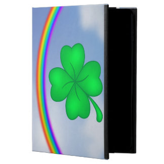 Four-leaf clover sheet with rainbow powis iPad air 2 case