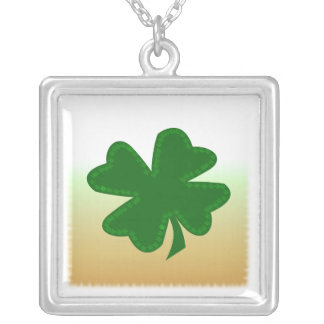Four Leaf Clover Silver Plated Necklace