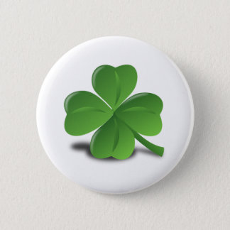 Four Leaf Clover St Patrick's Day button