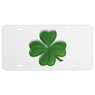 Four Leaf Clover - St Patrick's Day Symbol License Plate