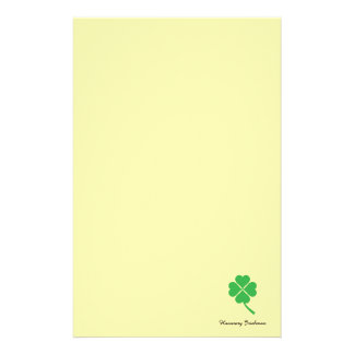 Four-leaf clover stationery