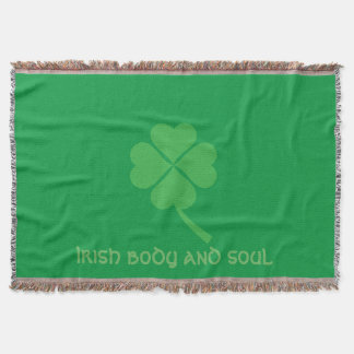 Four-leaf clover throw blanket