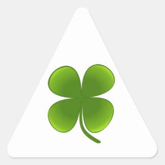 Four-leaf Clover Triangle Sticker