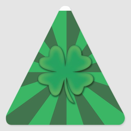 Four leaf clover triangle stickers
