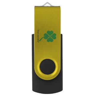 Four-leaf clover USB flash drive