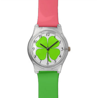 Four leaf clover watch