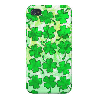 FOUR LEAF CLOVERS iPhone 4/4S CASES