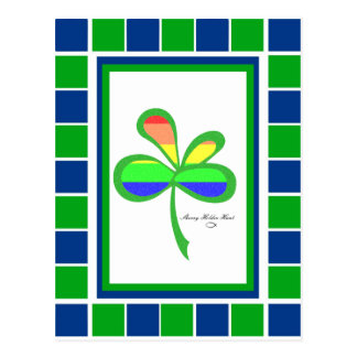 Four Leaf Rainbow Clover 2 Postcard