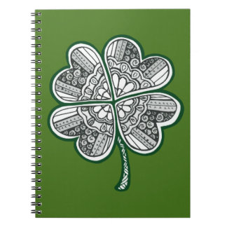 Four Leave Clover 1 Spiral Notebook