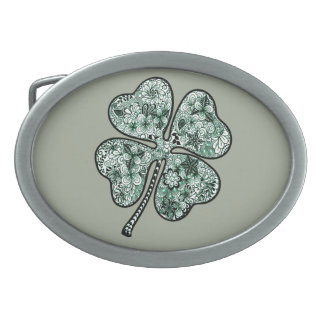 Four Leave Clover 2 Belt Buckle