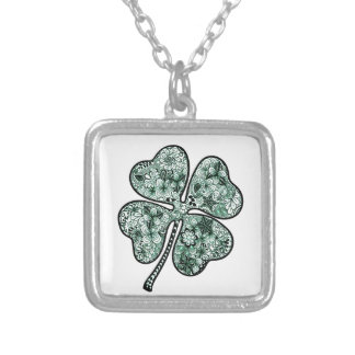 Four Leave Clover 2 Silver Plated Necklace
