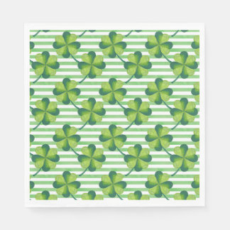 Four Leaves Clover St. Patrick's Day Pattern Disposable Napkin