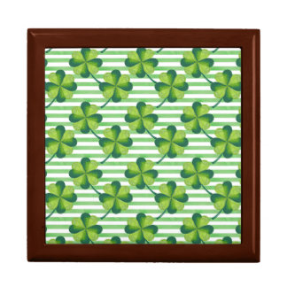 Four Leaves Clover St. Patrick's Day Pattern Gift Box