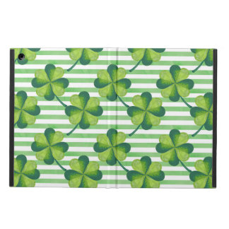 Four Leaves Clover St. Patrick's Day Pattern iPad Air Cover