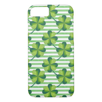 Four Leaves Clover St. Patrick's Day Pattern iPhone 8/7 Case