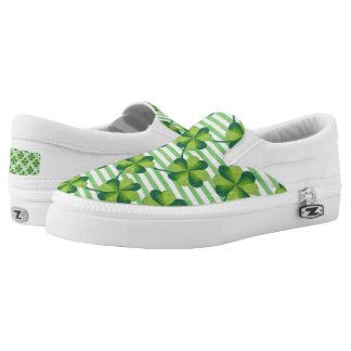 Four Leaves Clover St. Patrick's Day Pattern Slip-On Sneakers